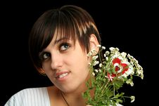 Free Young Beauty With Flowers Royalty Free Stock Photography - 3262597