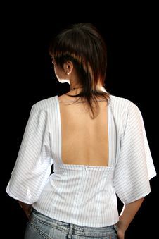 Free Woman With The Open Back Stock Photography - 3262602