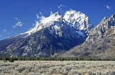 Free Grand Teton After First Snow Royalty Free Stock Image - 3263376