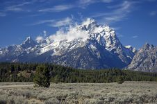 Free Grand Teton After First Snow Stock Image - 3263391