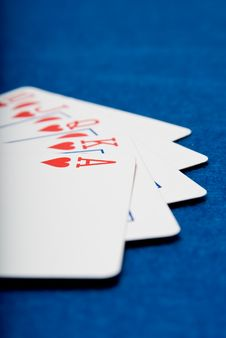 Free Royal Flush Royalty Free Stock Photos - 3264898