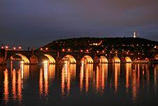 Free The Charles Bridge In Prague Royalty Free Stock Image - 3268036