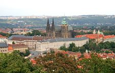 Free The Aerial View Of Prague City Royalty Free Stock Images - 3268059