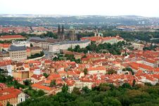 Free The Aerial View Of Prague City Royalty Free Stock Photography - 3268067
