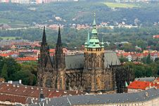 Free The Aerial View Of Prague City Stock Image - 3268111