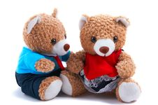 Mummy & Daddy Teddy Bears Royalty Free Stock Photography