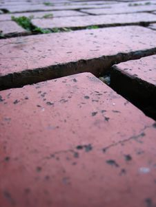 Free Brick Tiled Floor 2 Royalty Free Stock Photography - 3269097