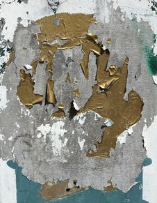 Free Peeling Paint On Galvanised Metal Royalty Free Stock Photo - 32601125