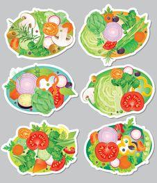Free Vegetables Sticker Stock Photos - 32603833