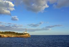 Free Porto Colom Lighthouse In Majorca Royalty Free Stock Photography - 32604757