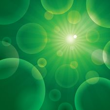 Free Vector Abstract Bubble Green Stock Images - 32629444