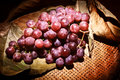Free Bamboo Basket Of Grapes Stock Images - 32634494