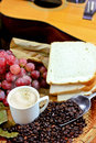 Free Coffee With Grapes And Bread Stock Images - 32634604