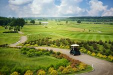 Great View At The Golf Course Royalty Free Stock Image