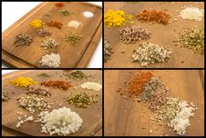 Free Salt And Herb Collection Royalty Free Stock Image - 32641146
