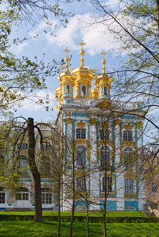 Free Dome Of Russian Orthodox Church Of Catherine Palace Stock Image - 32648081