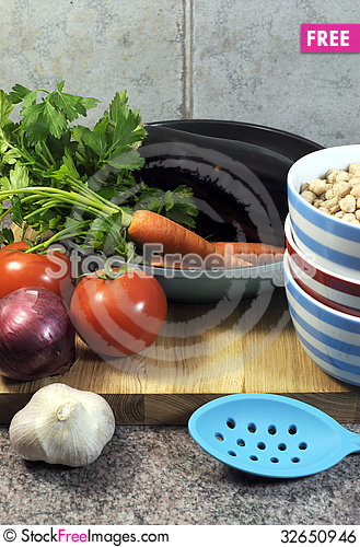 Free Vegetarian Cooking Concept - Vertical. Royalty Free Stock Image - 32650946