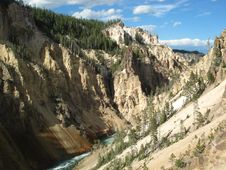 Free Grand Canyon Of The Yellowstone Stock Image - 32654541
