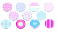 Free Girly Badges Royalty Free Stock Photography - 32656897
