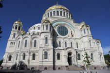 Naval Cathedral In Kronstadt, Russia Royalty Free Stock Photography