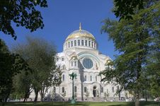 Free Naval Cathedral In Kronstadt, Russia Stock Photos - 32660113
