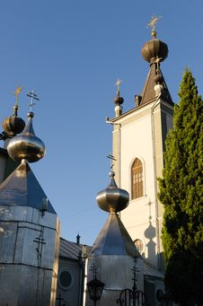 Free The Domes Of The Church Of Theodore Stratilat. Alushta. Stock Images - 32667184