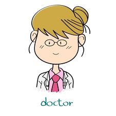 Free Female Doctor Cartoon Stock Photo - 32676610