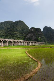 Free Cropland Landscape In Countryside , Guangxi,China Stock Image - 32677671