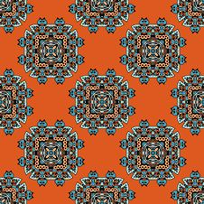 Free Ethnic Seamless Pattern Vector Royalty Free Stock Photography - 32678347