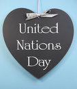 Free United Nations Day Text Message Greeting Written On Heart Shape Blackboard Stock Image - 32688101