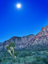 Free Desert With Red Rock Mountains Early In The Morning With A Brigh Royalty Free Stock Image - 32689026