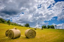 Free Hay Sheaf In A Field Royalty Free Stock Photography - 32682347