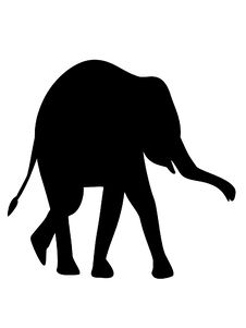 Free Elephant Silhouette Royalty Free Stock Photo - 32684055