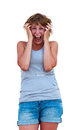 Free A Portrait Of A Young Frustrated Woman Royalty Free Stock Images - 32690449