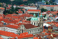 Free The Aerial View Of Prague City Stock Images - 3273194