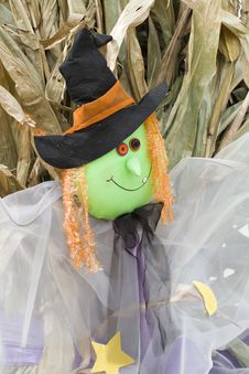 Free Witch Scarecrow Royalty Free Stock Photography - 3270227