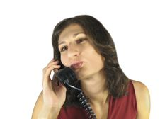 Free Woman With Mobile Telephone-2 Royalty Free Stock Photography - 3270517