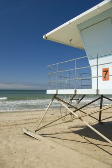 Free Lifegaurd Beach House Royalty Free Stock Image - 3271136