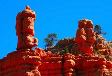 Free Hoodoos In Red Canyon Royalty Free Stock Photography - 3271227