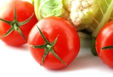 Free Cauliflower With Tomatoes Stock Image - 3272421