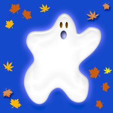 Free Friendly Halloween Ghost Royalty Free Stock Photos - 3272548