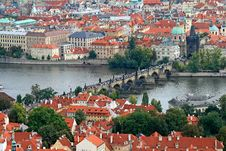 Free The Aerial View Of Prague City Stock Photography - 3273082