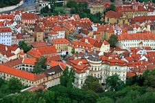 Free The Aerial View Of Prague City Royalty Free Stock Image - 3273136