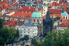 Free The Aerial View Of Prague City Stock Photography - 3273142