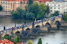 Free The Aerial View Of Prague City Royalty Free Stock Photos - 3273178