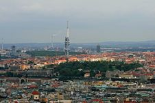 Free The Aerial View Of Prague City Royalty Free Stock Photos - 3273198