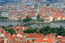 Free The Aerial View Of Prague City Royalty Free Stock Photo - 3273235