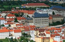 Free The Aerial View Of Prague City Royalty Free Stock Photo - 3273265