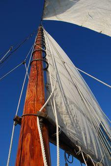 Free Skipjack Under Sail Royalty Free Stock Image - 3273616