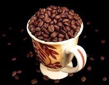 Free Mug Of Coffee Beans Stock Photo - 3273700